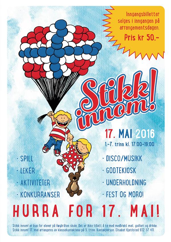 Stikk innom!-flyer 17. mai 2016